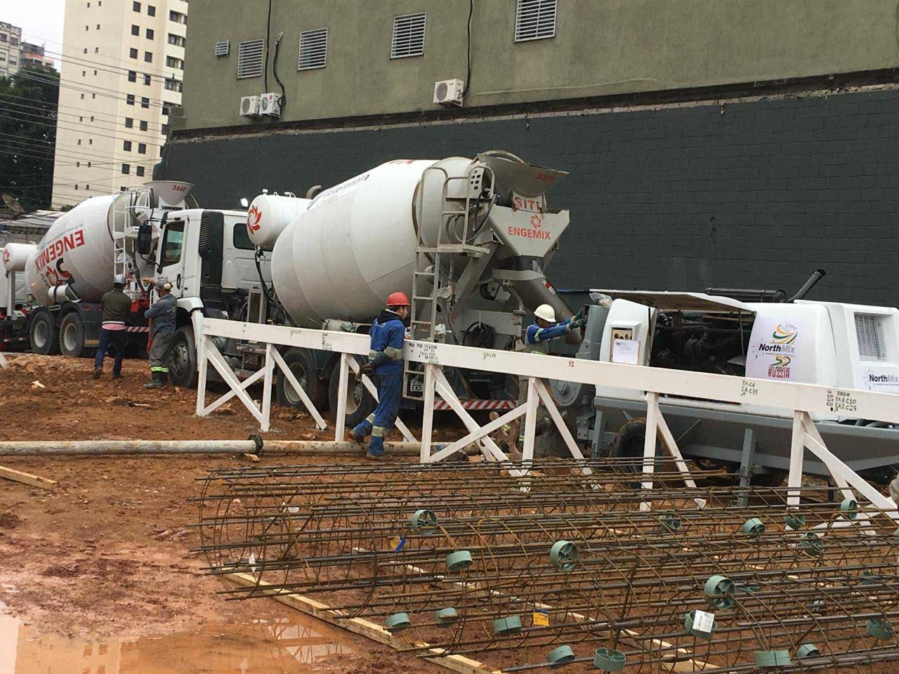 Aluguel de bomba de concreto