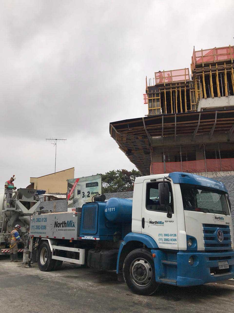 Equipamentos para bombeamento de concreto