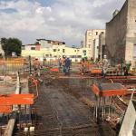 Lançamento de concreto bombeado